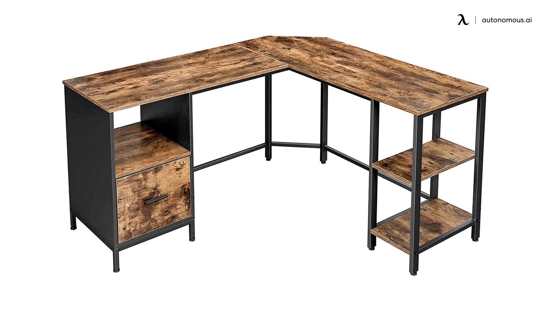 Vasagle File Cabinet L-Shaped Desk