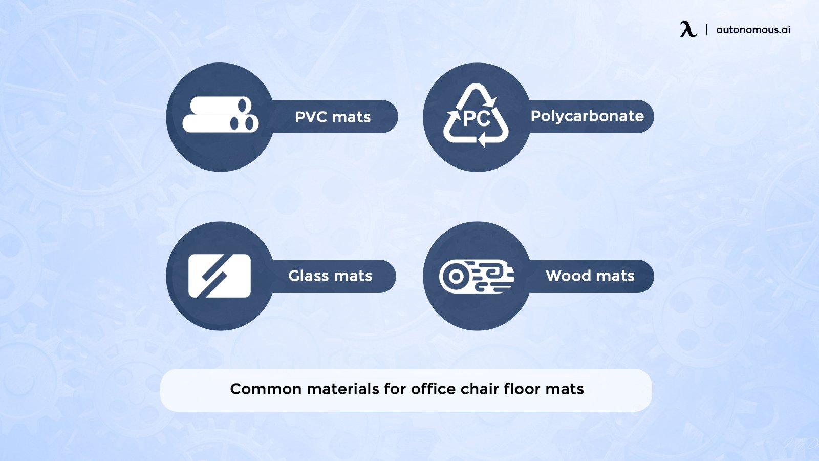 Floor mat materials