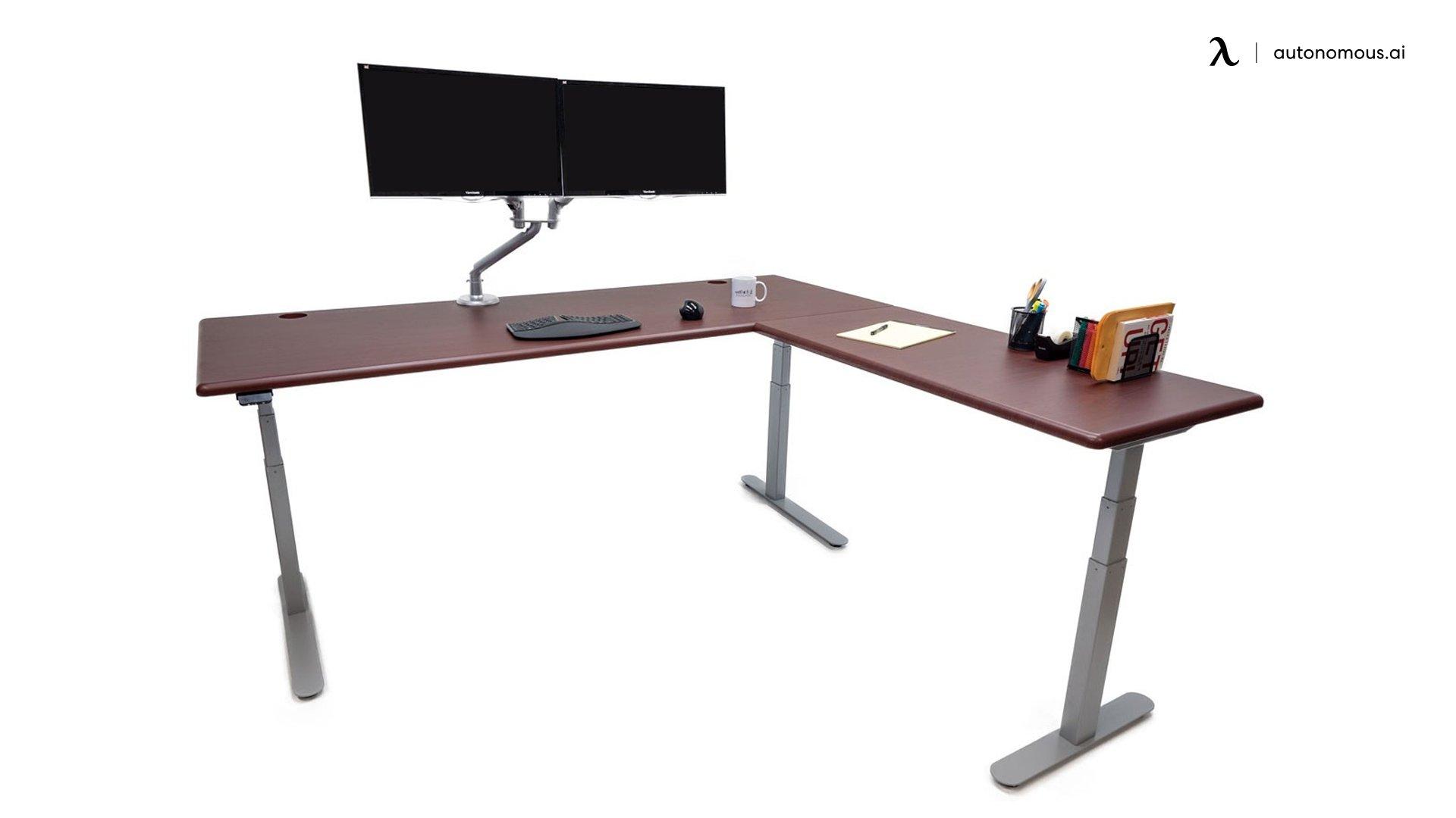 iMovR Lander L-Desk Modern Adjustable Height Desk