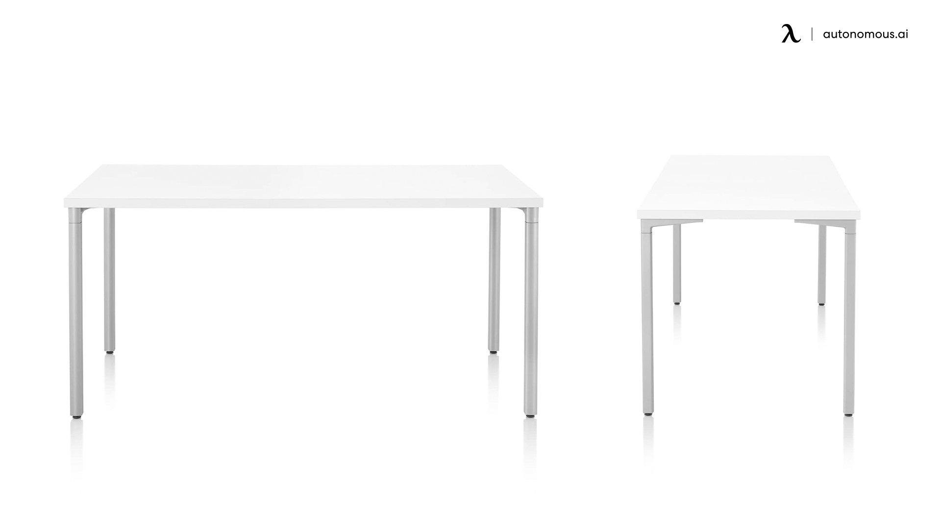 Everywhere Rectangular White Work Desk