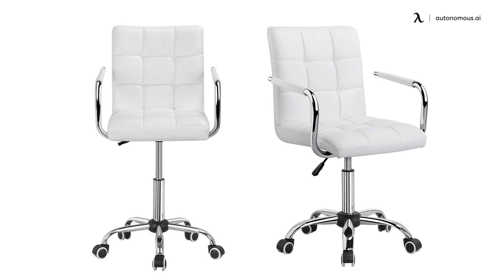Yaheetech White Cheap Comfortable Office Chair