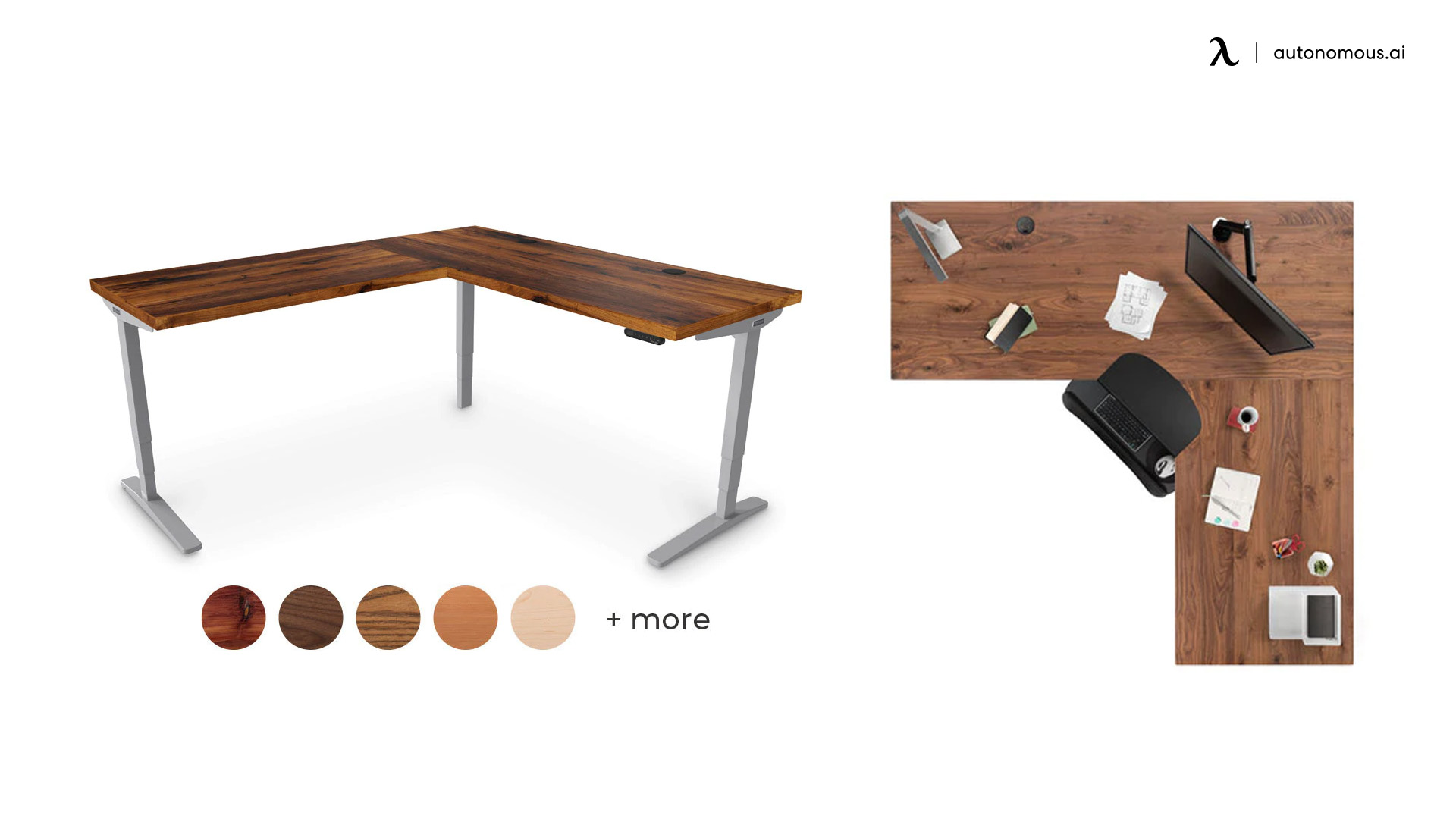 UpLift L-Shaped Custom Solid Wood Desk
