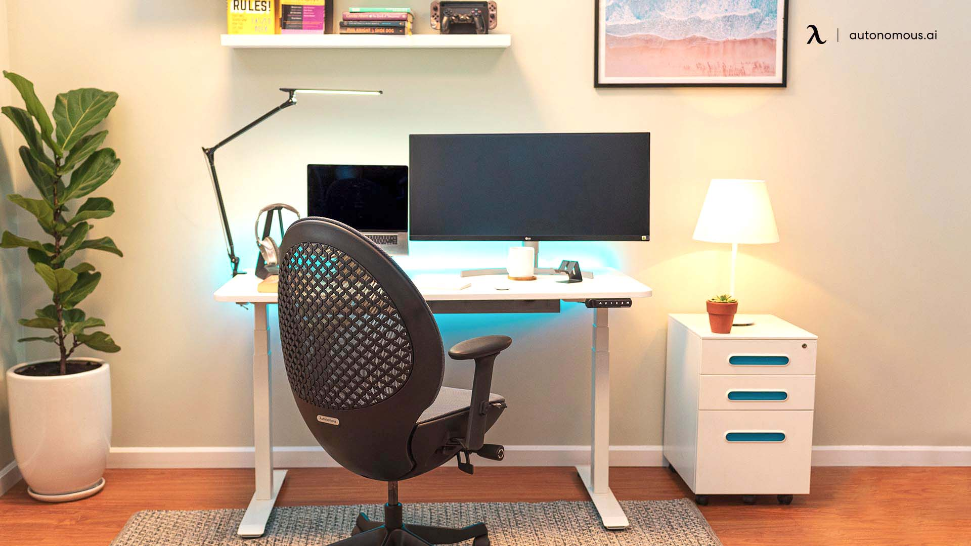 Low height office chair