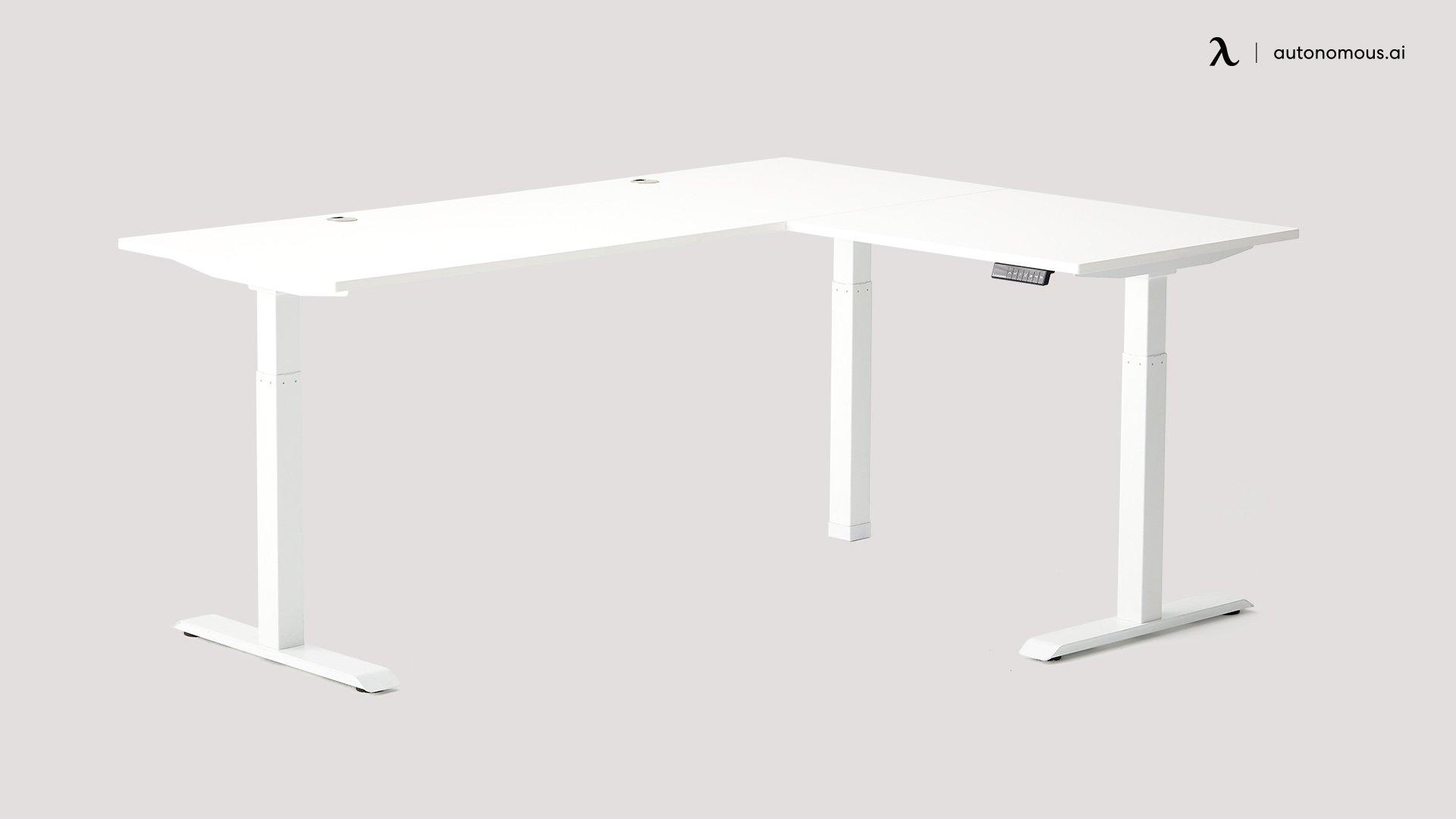 L-Shaped SmartDesk grey office desk
