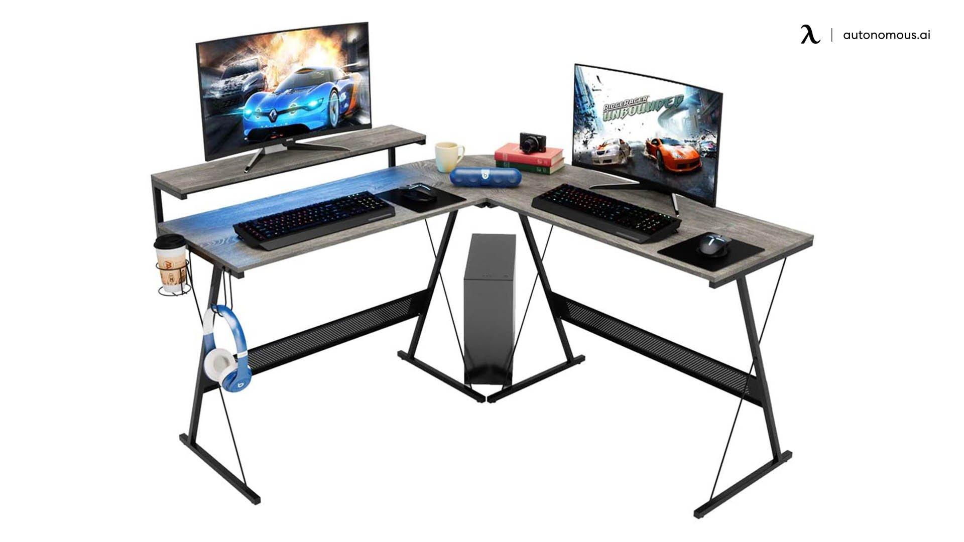 Bestier L-Shaped RGB Desk