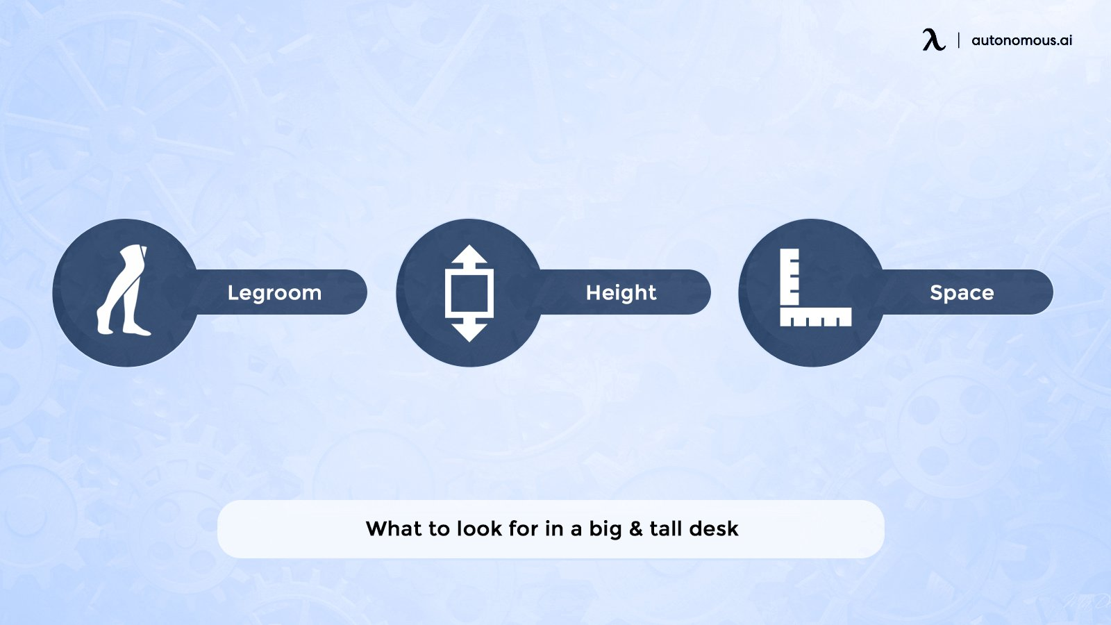 What to look for in a big & tall desk