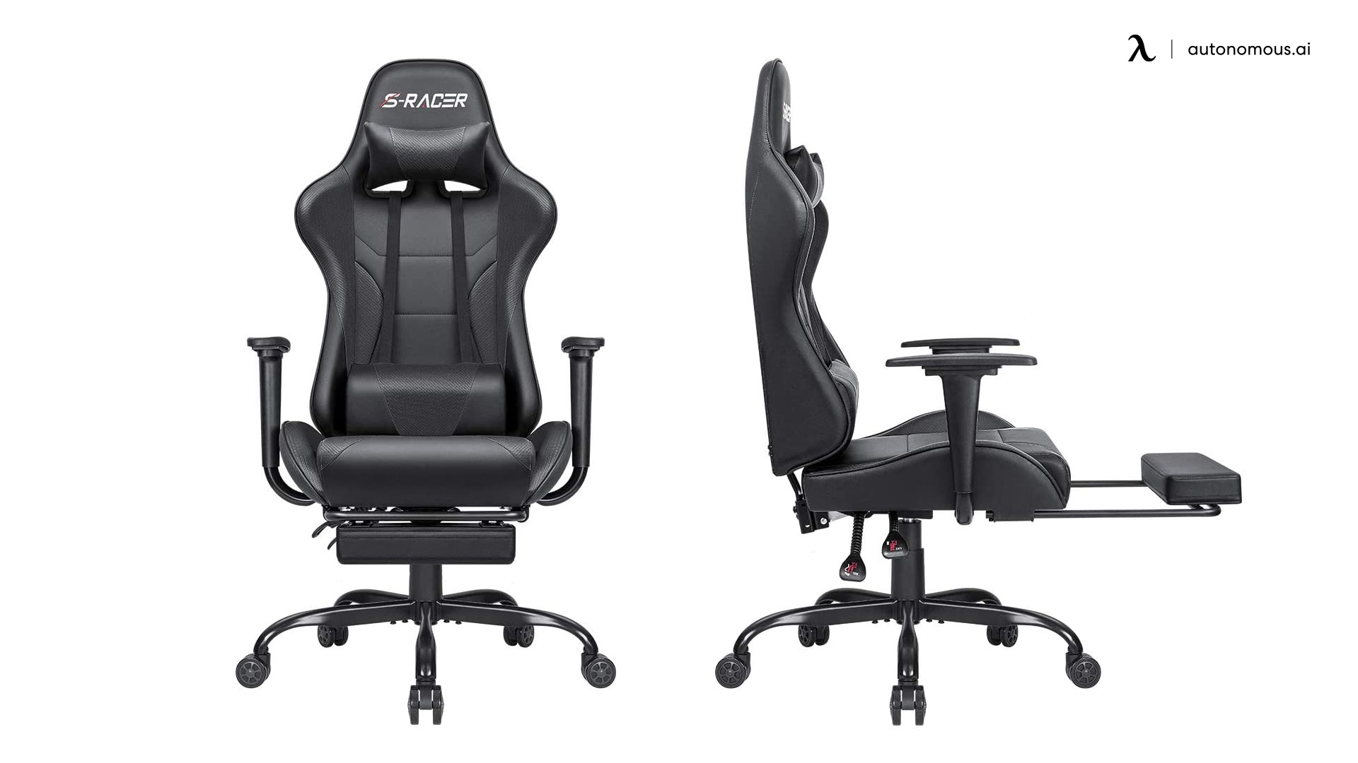 Homall PU Leather Reclining Office Chair with Footrest