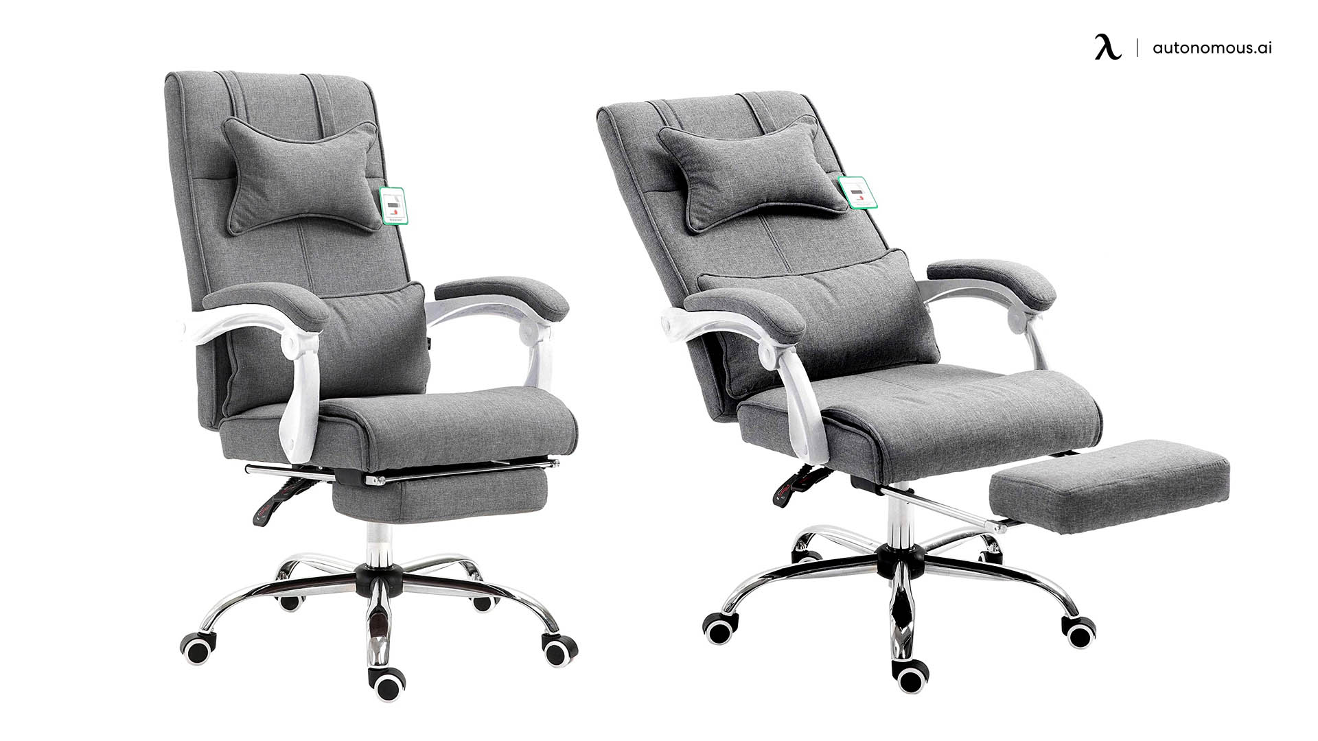 Cherry Tree Furniture Office Chair with Footrest Retraction and Reclining Features