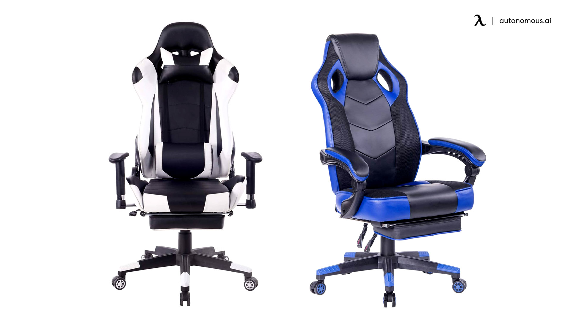 Healgen PU Leather Reclining Office Chair with Footrest