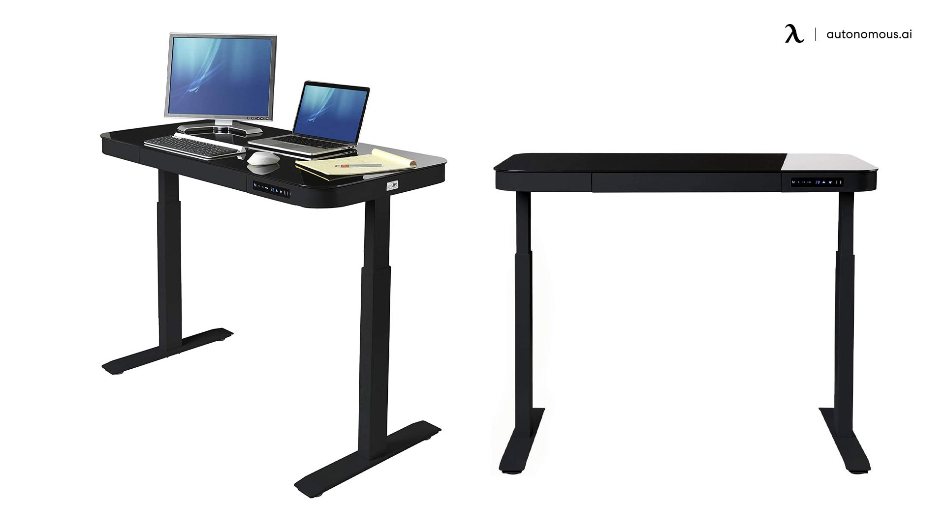 Airlift Tempered Glass Electric Standing Desk