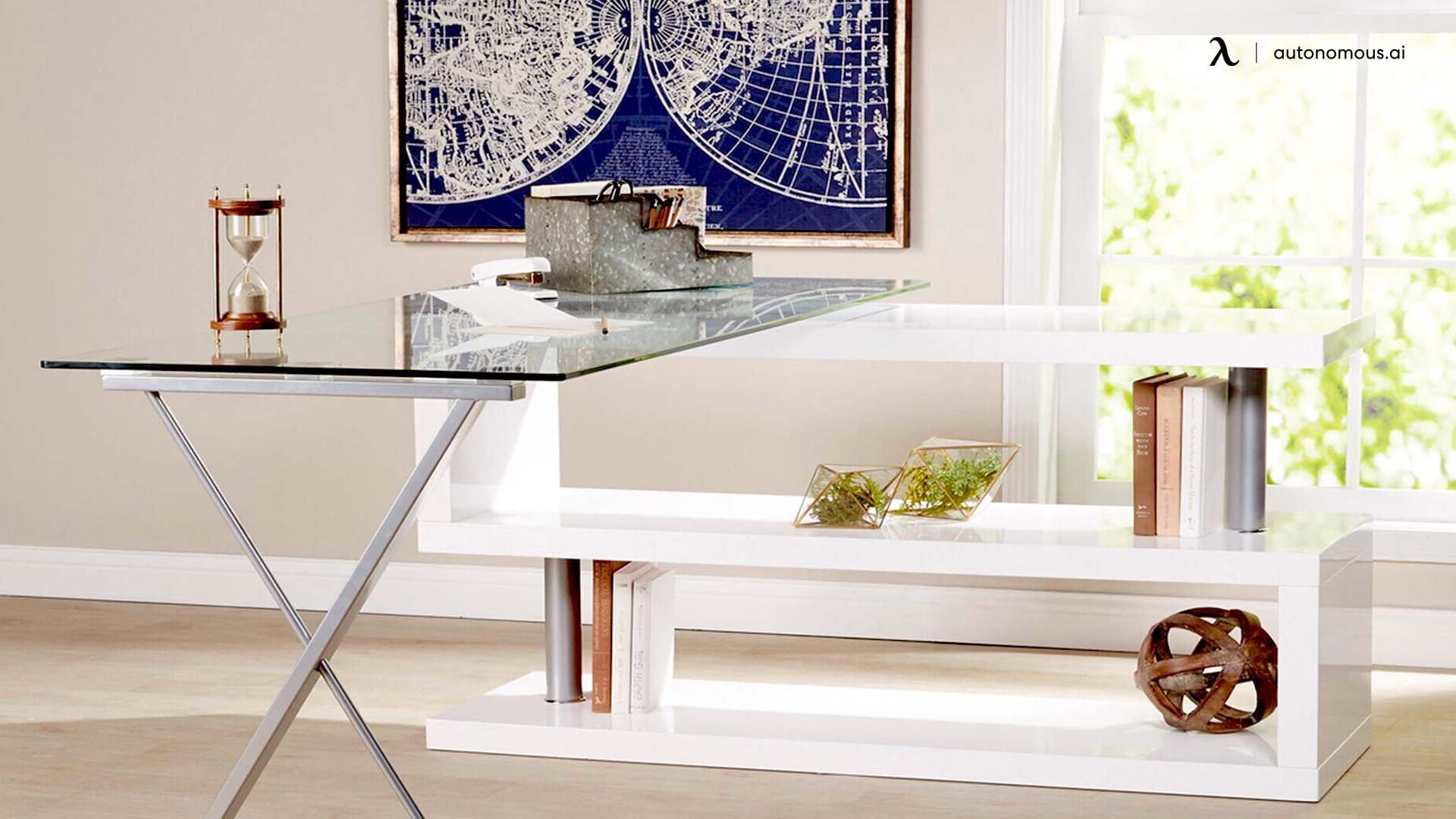 The Glass and Transparent White Desk Setup