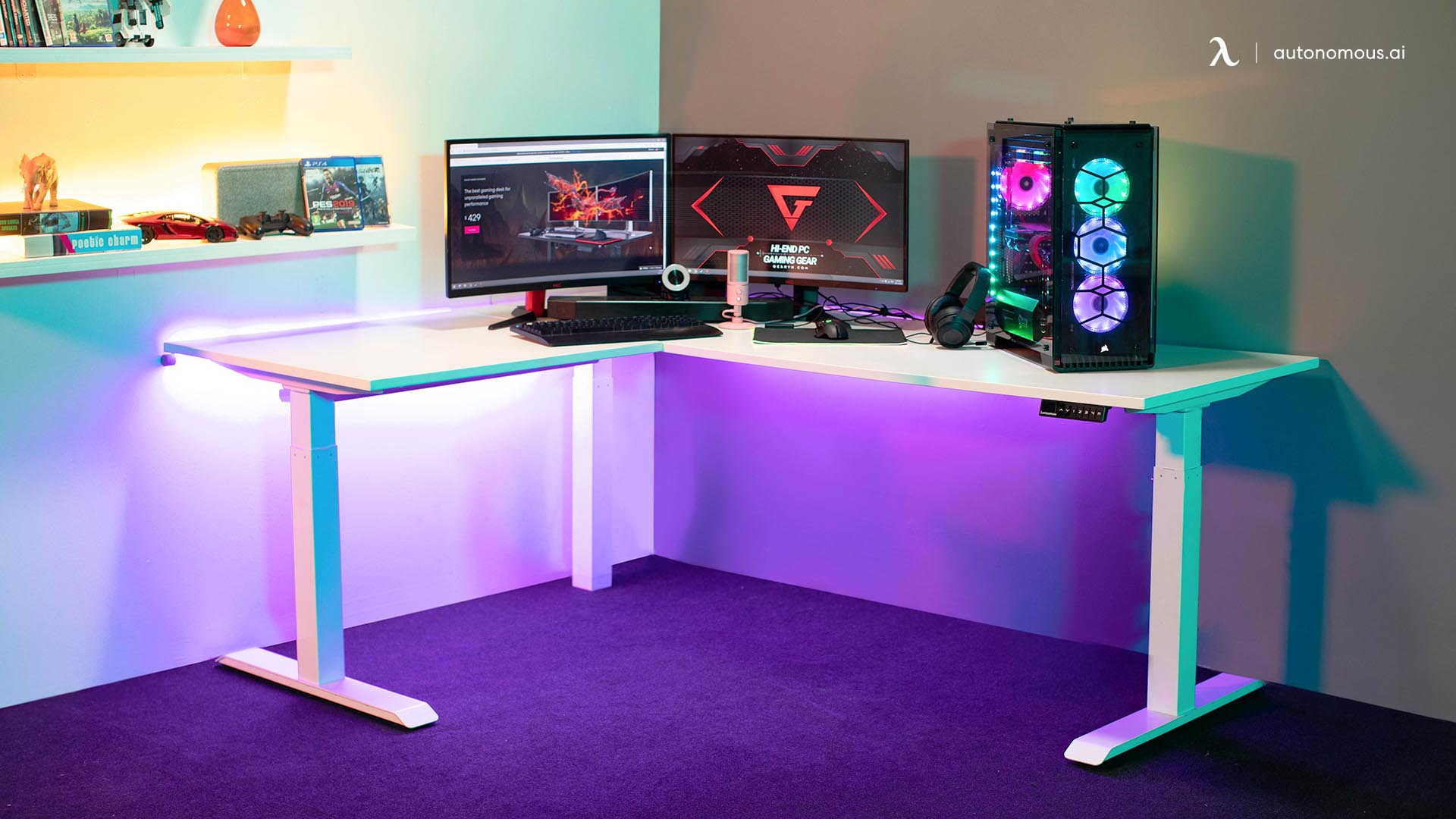 The Modern Minimal All White Battlestation Gaming Desk Setup