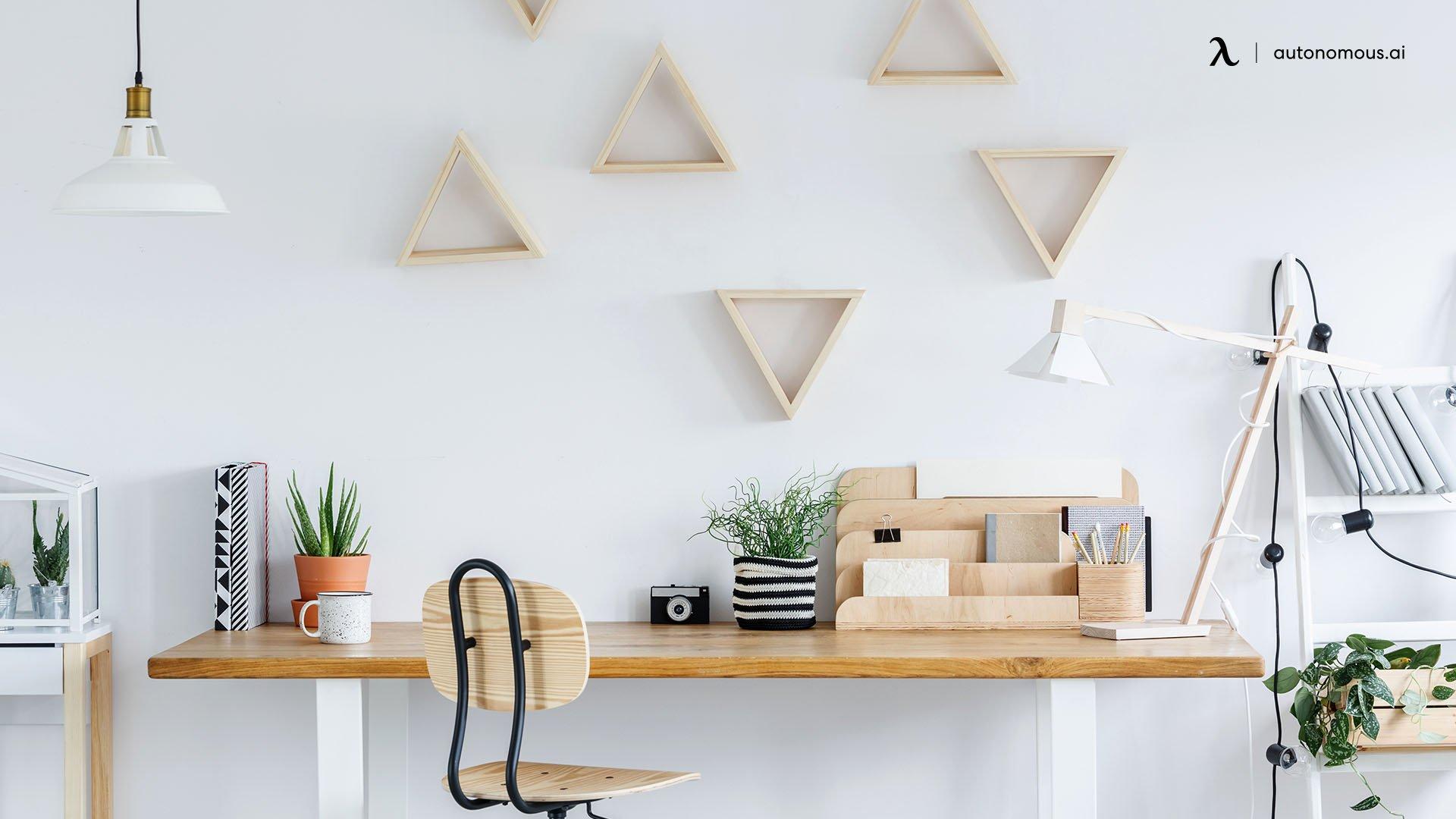 The Minimal Wooden Desk Workstation