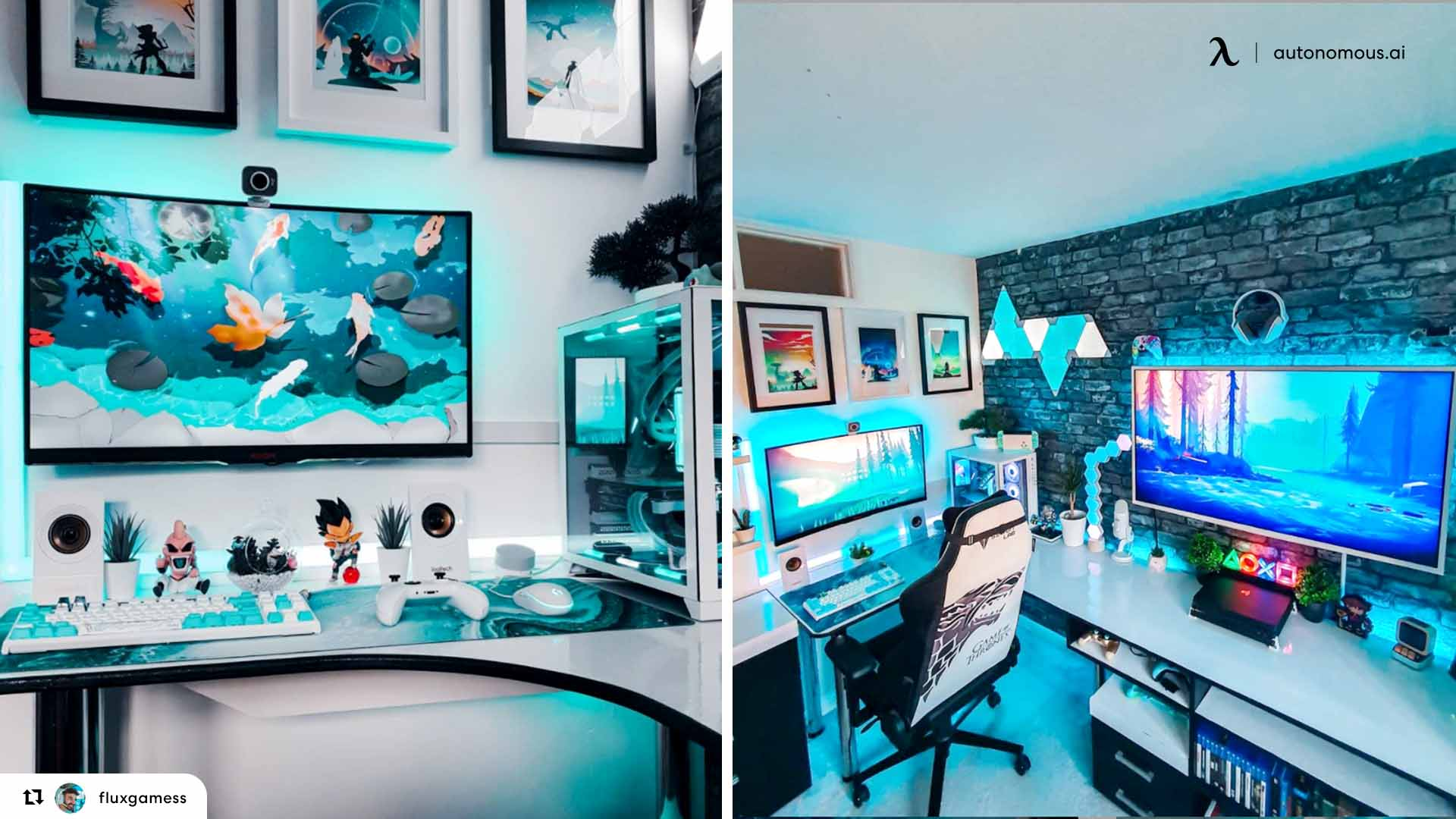 The Colorful LED Home Office Light Desk Setup