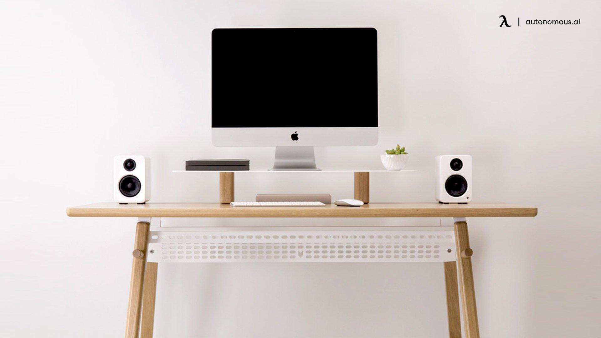 The Minimal Hypebeast Standing White Desk Setup