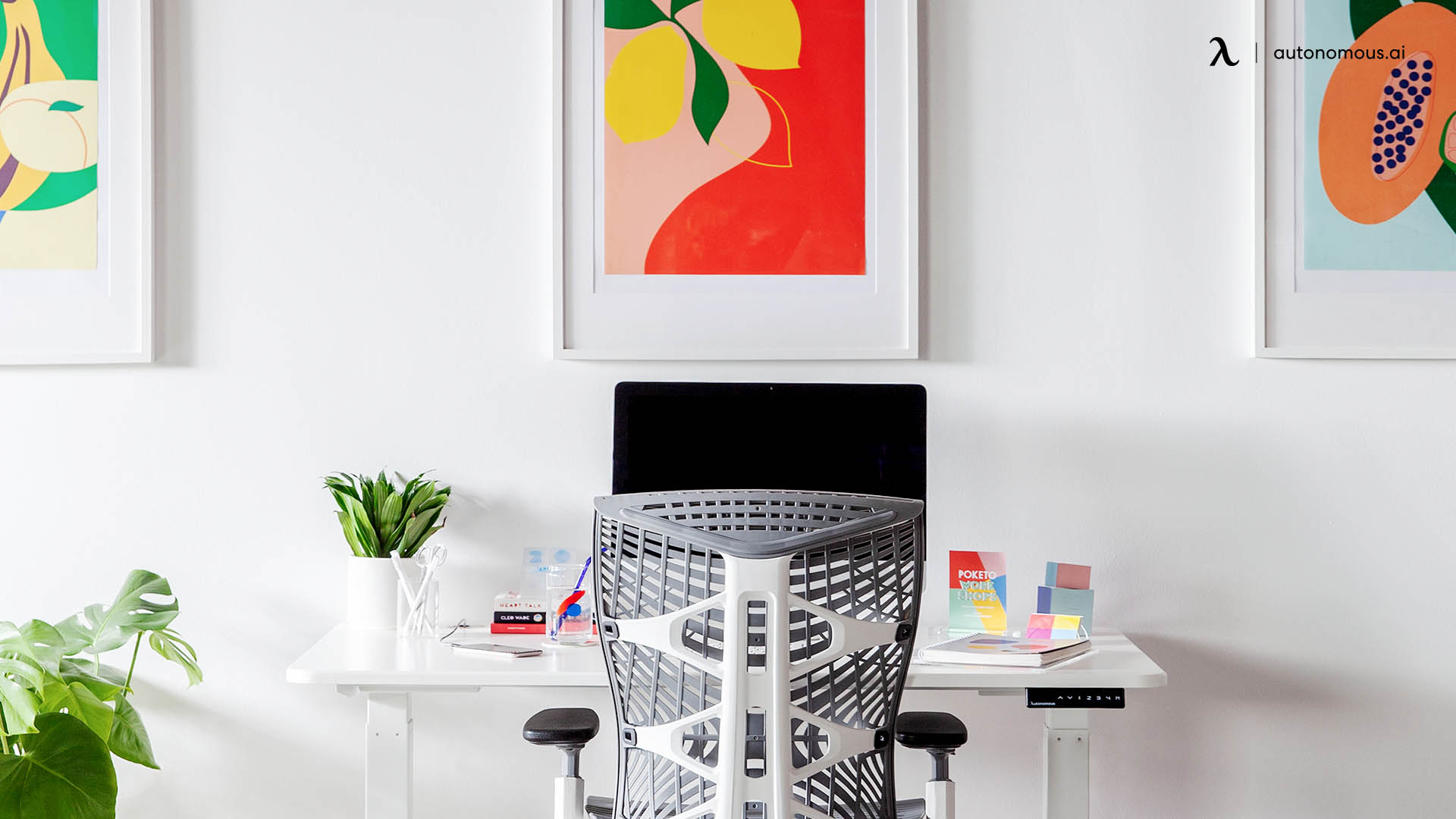 The Complete Ergonomic Home Office White Desk PC Setup