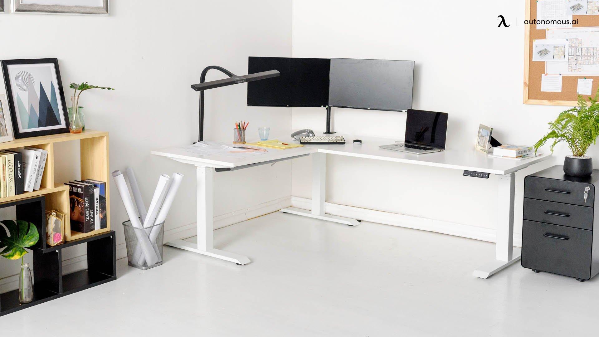 The Dual Monitor White Minimalist Setup