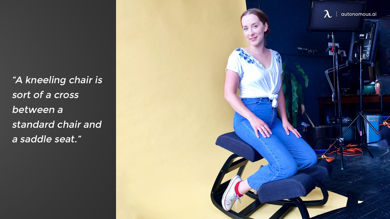 Kneeling chair quote