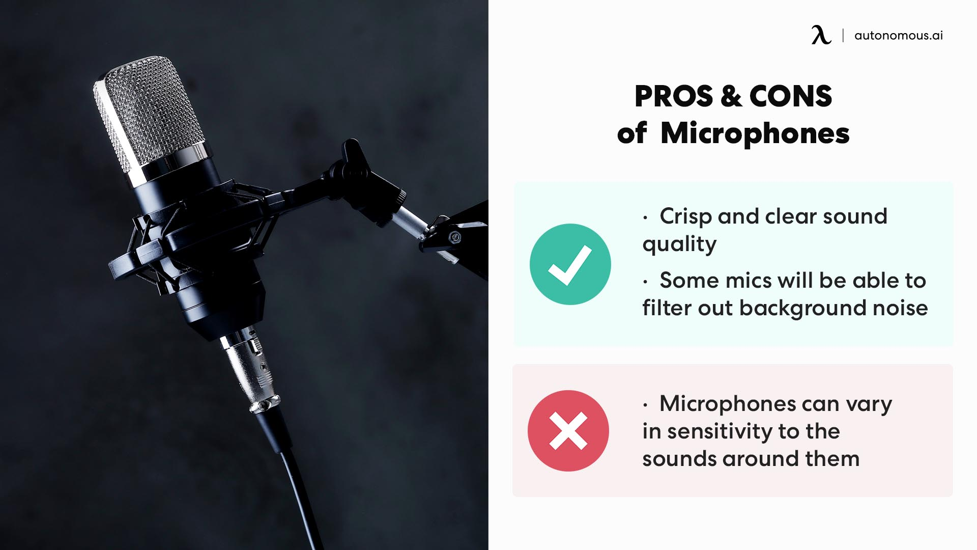 pros and cons of microphone