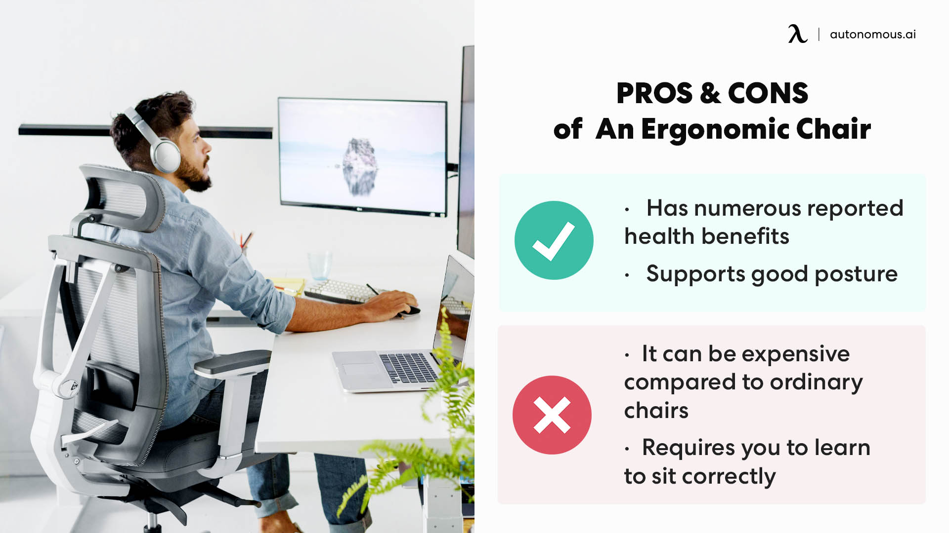 pros and cons of using ergonomic chair