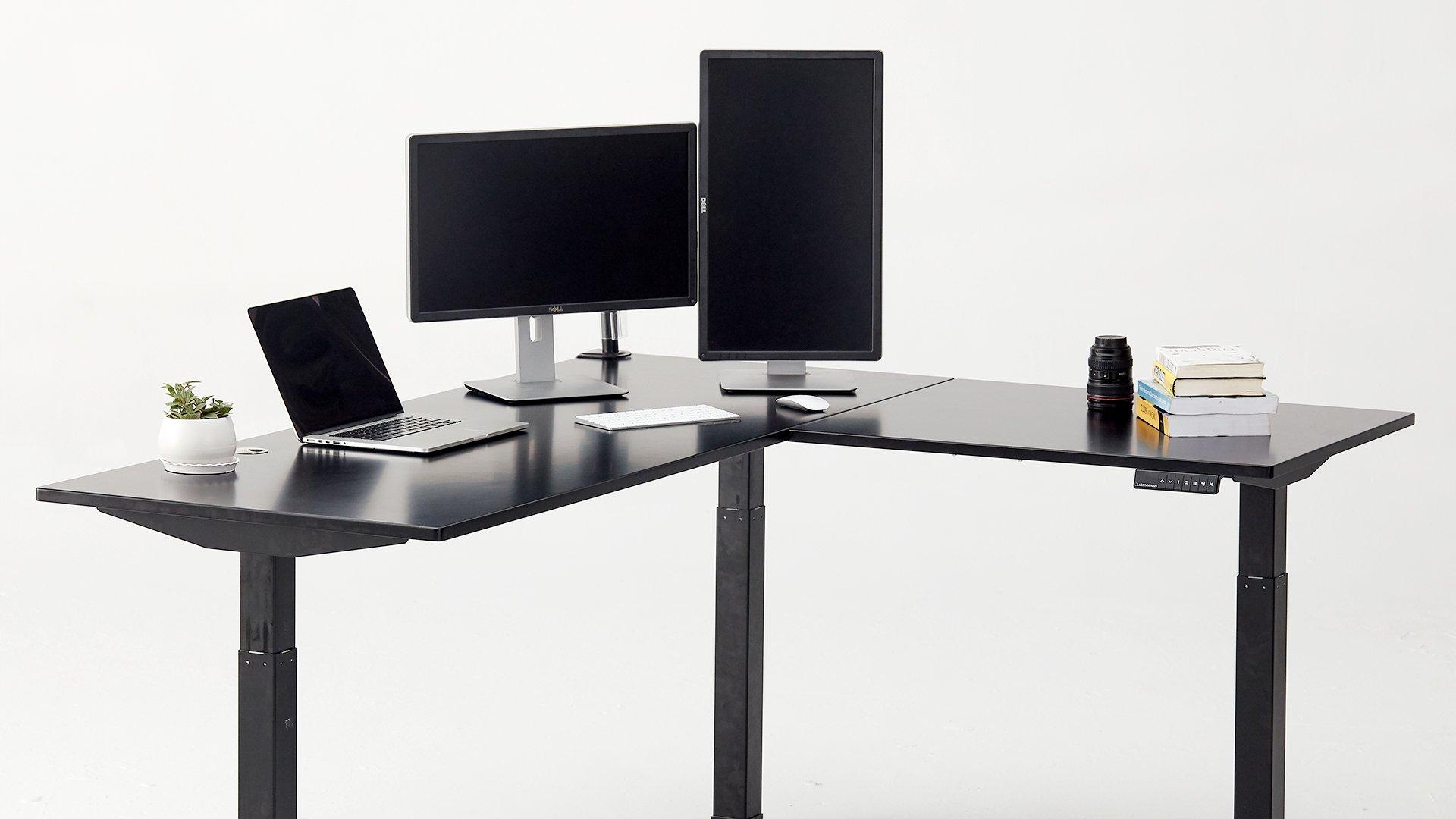 Multi-Monitor L-Shaped Desk