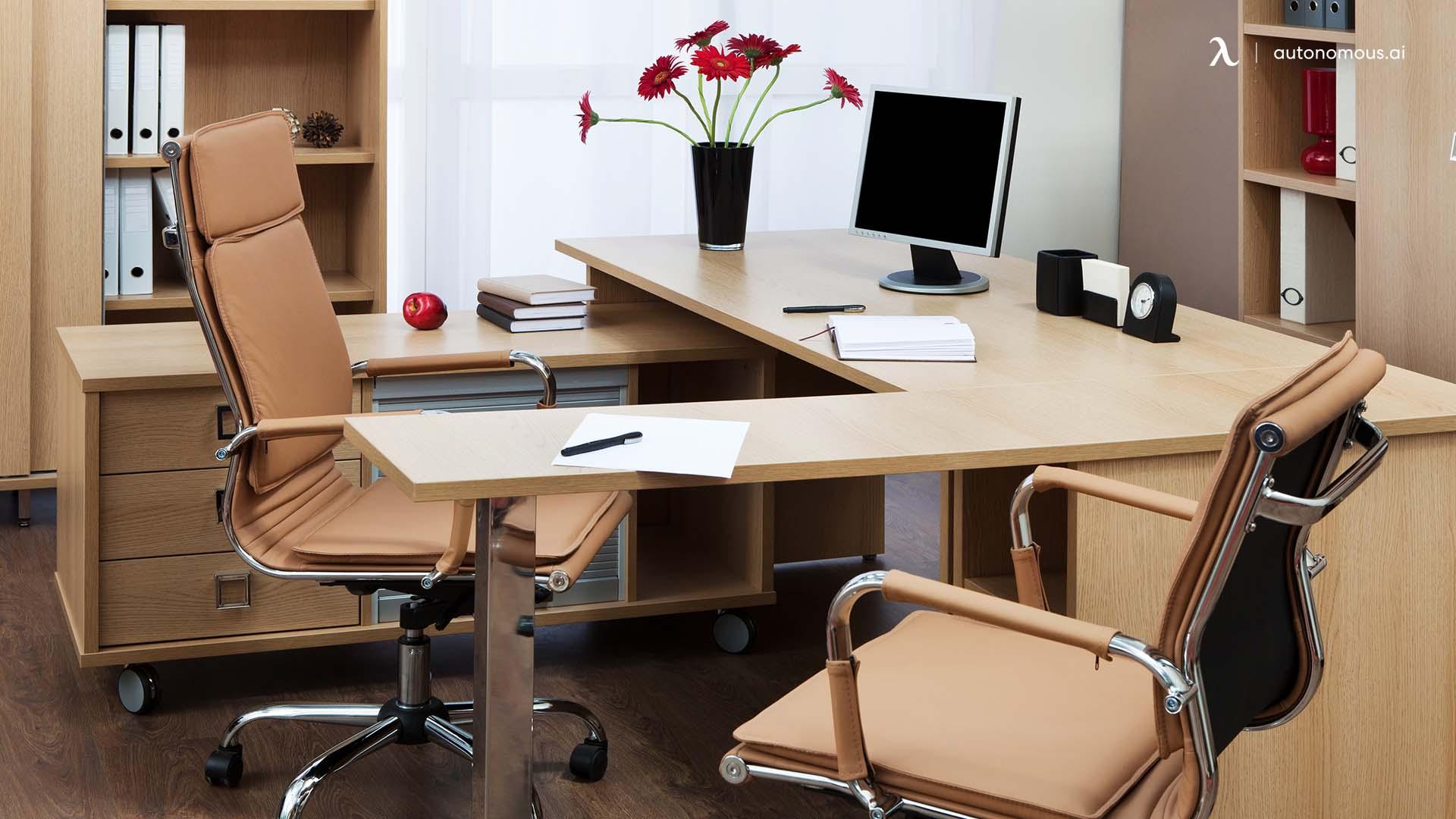 Permanently Standing Corner Desk