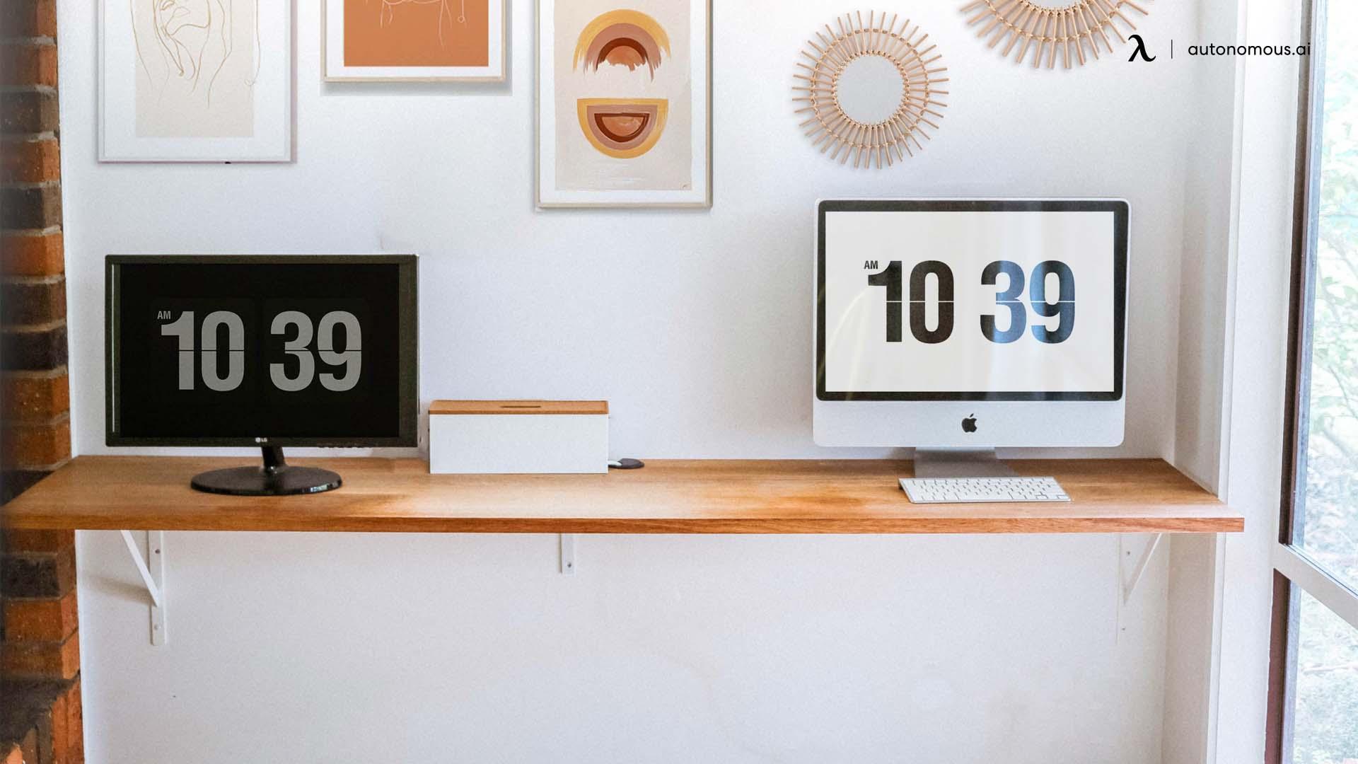 Minimalist DIY Corner Office Desk