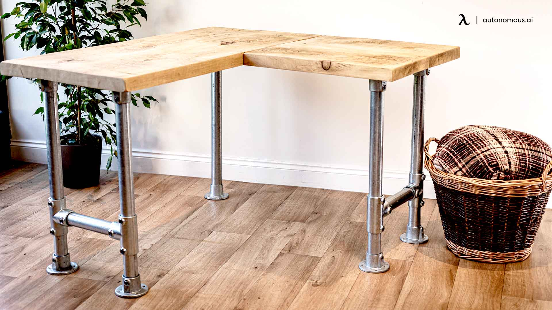 Industrial Frame for L-Shaped Desk