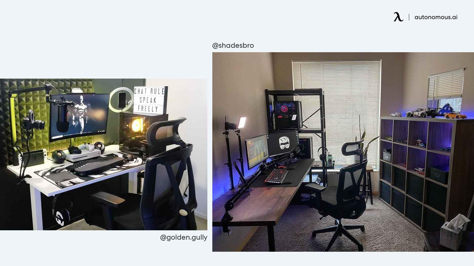 The All-Black Desk Workstation