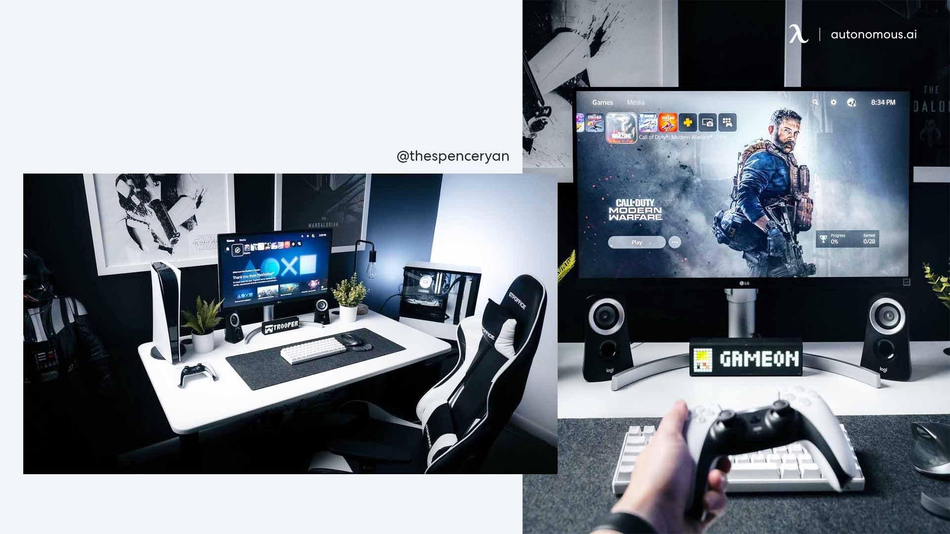 The Modern Black Minimal Gaming Setup