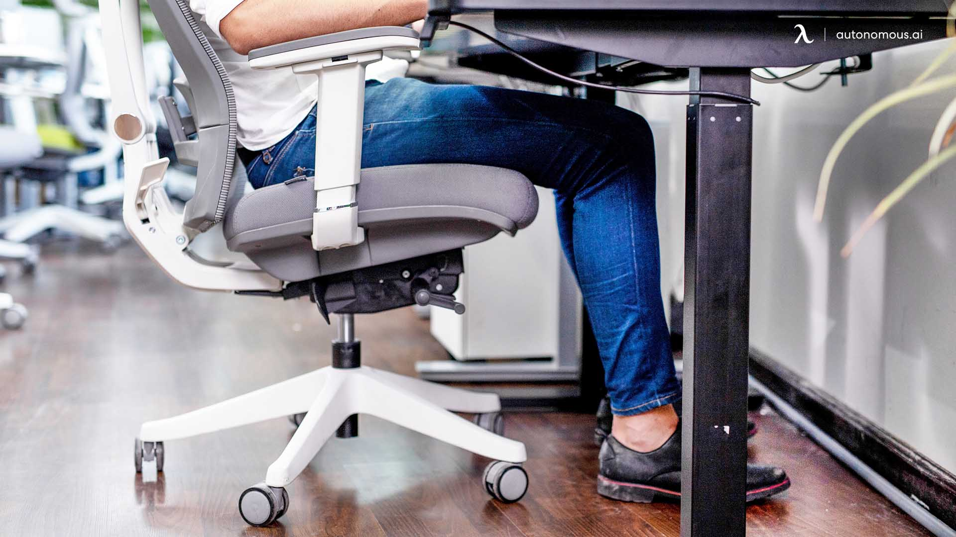 Adjust your chair's height using your knees as a guideline for the suitable stature