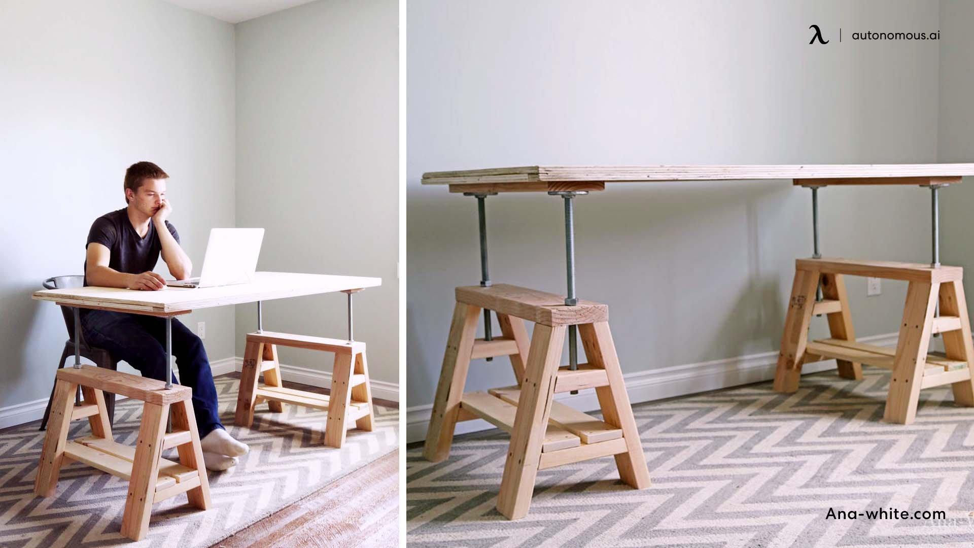 Standing Sawhorse Desk