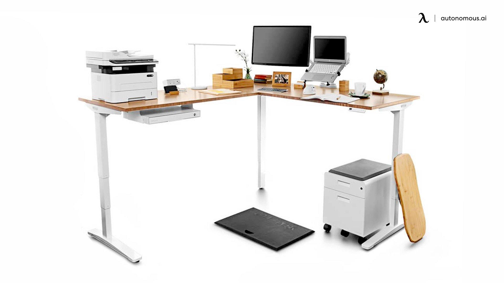 Uplift L-shaped standing desk