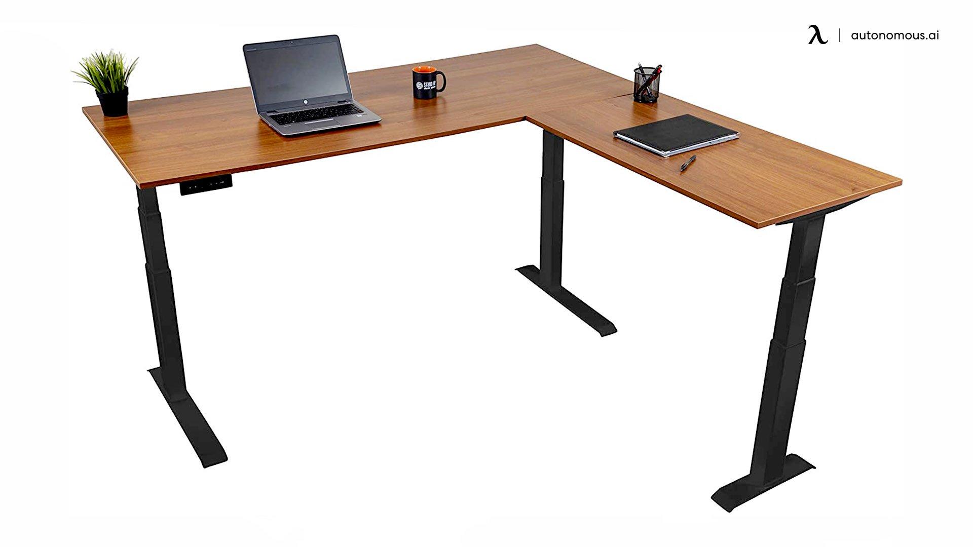 71'' triple motor electric L-shaped desk