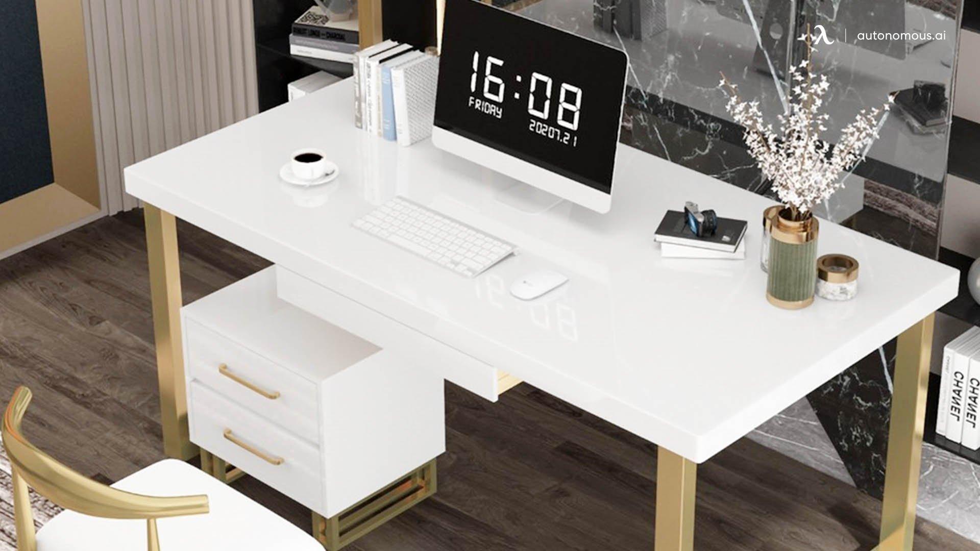 White Office Desk by Homary