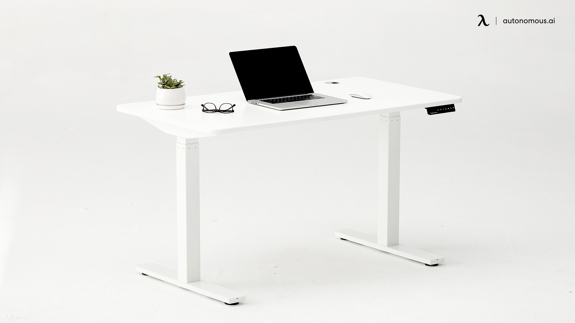 Best White Office Desk for Home SmartDesk 2 from Autonomous