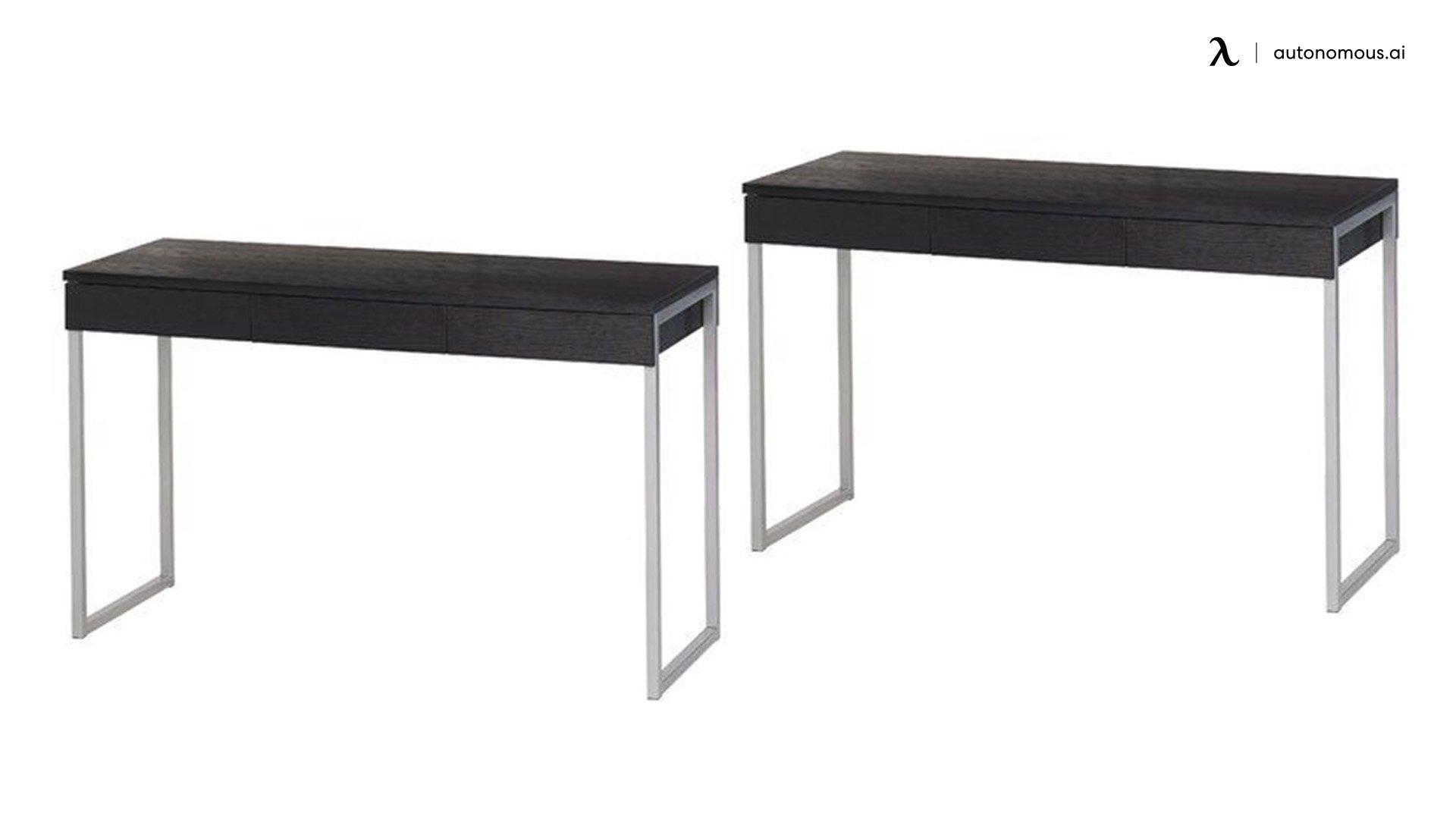 Black Bradshaw Three Drawer Desk