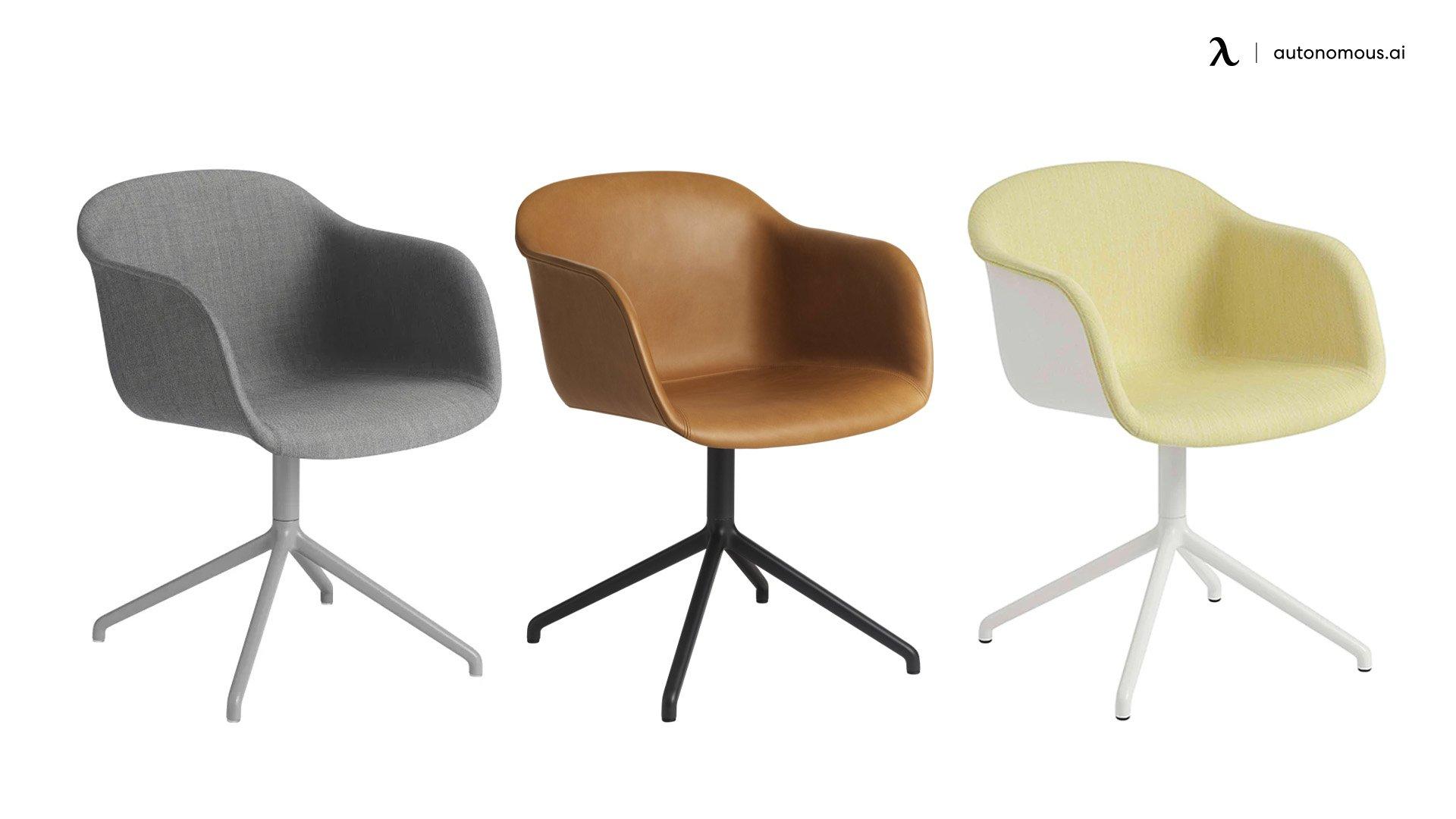 Muuto x Iskos-Berlin Swivel Base Upholstered Fiber Armchair