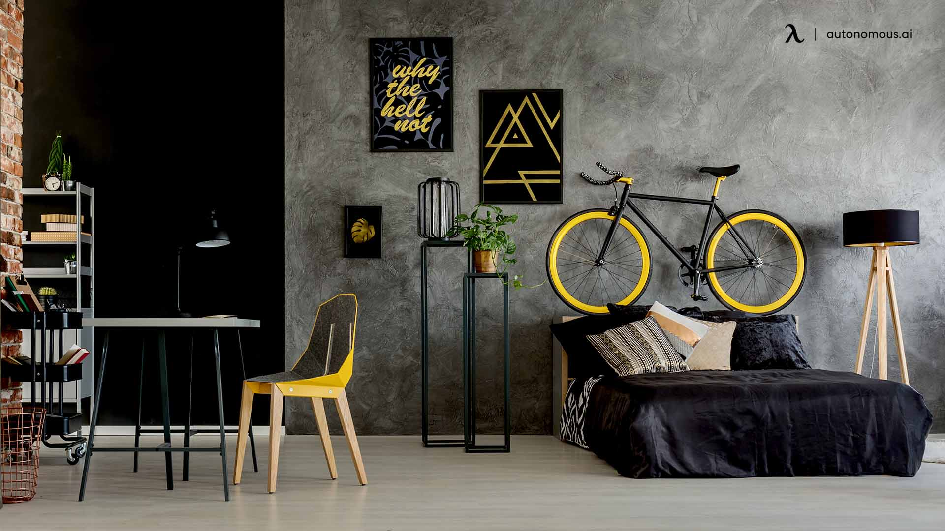 Black/Dark Bedroom Design