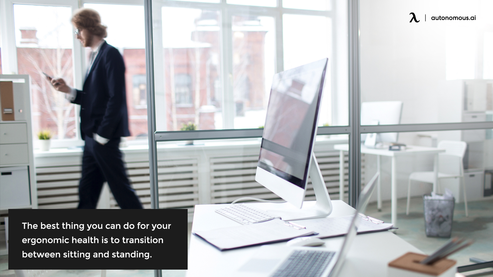 Transitioning between sitting and standing