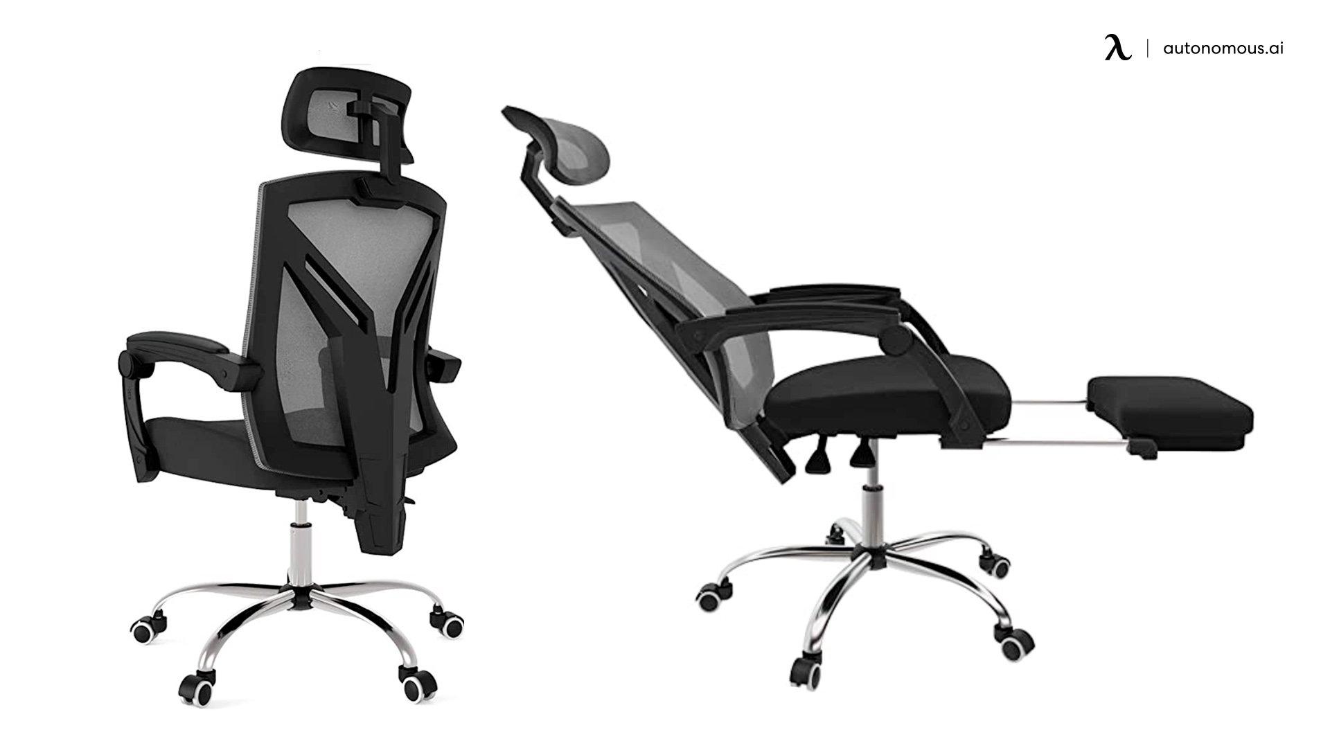 Hbada Ergonomic Office Recliner Chair with Footrest