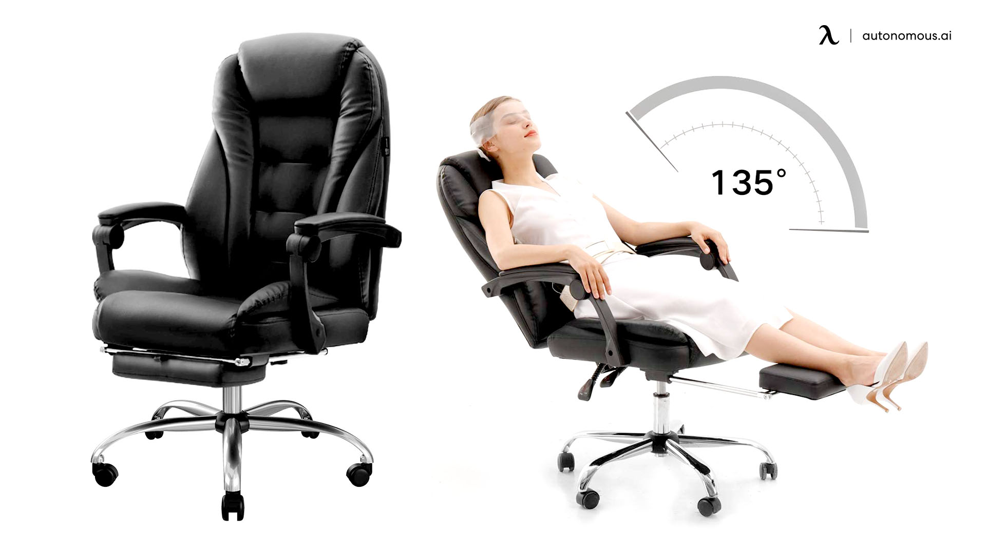 Hbada Ergonomic Executive Office Chair with Footrest