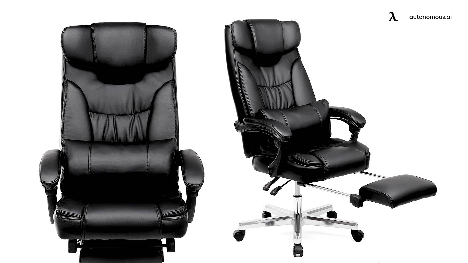Songmics Reclining Office Chair with Footrest
