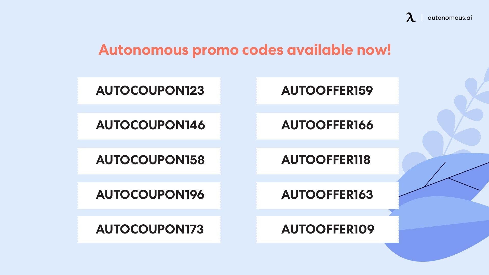 Autonomous coupon code