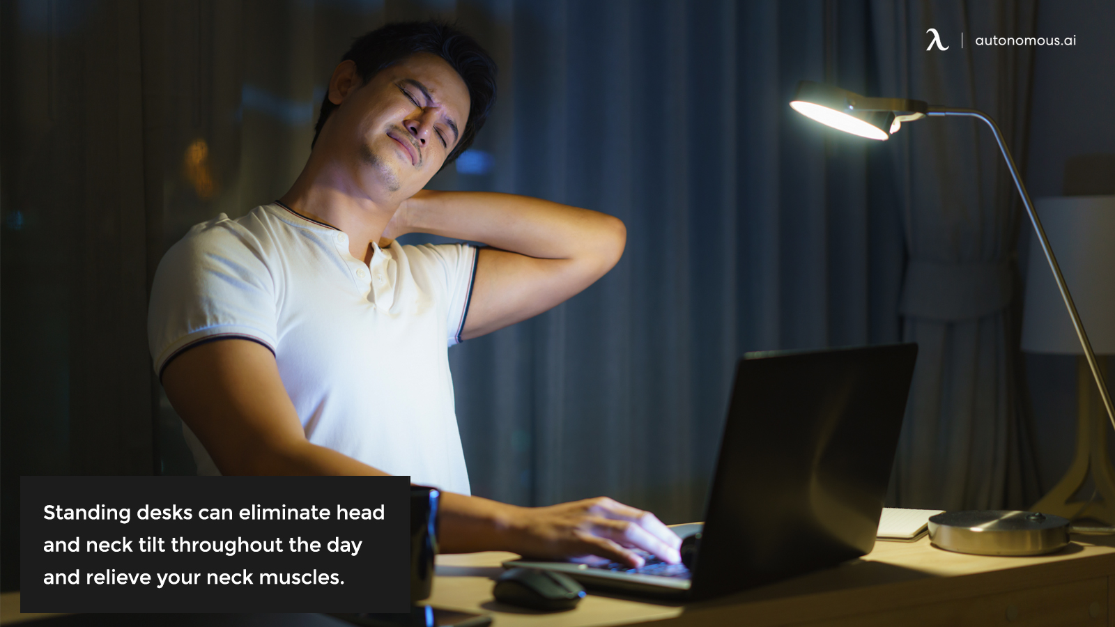 Neck pain at desk
