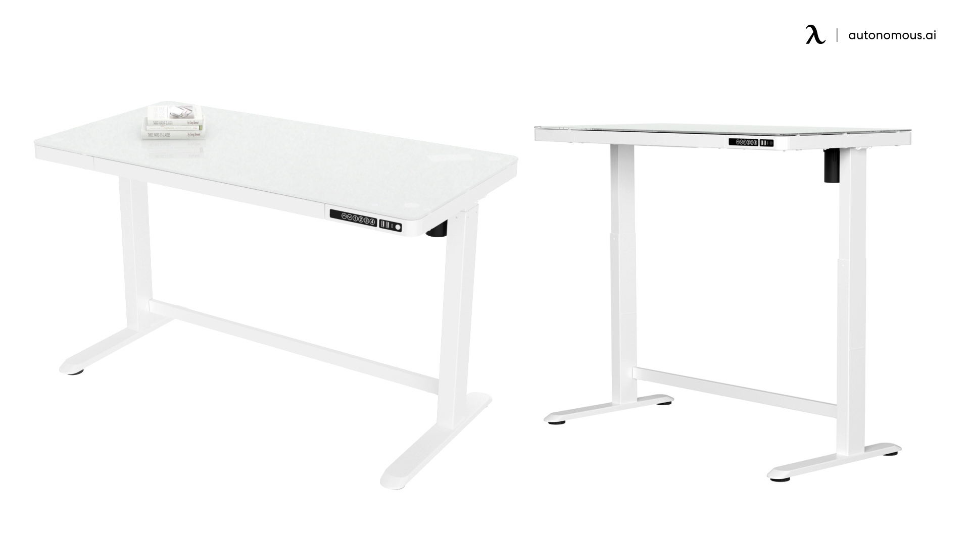 Glass Standing Desk by Solos