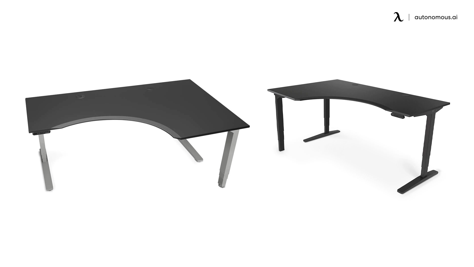 Uplift Curved L-Shaped Stand-up Desk
