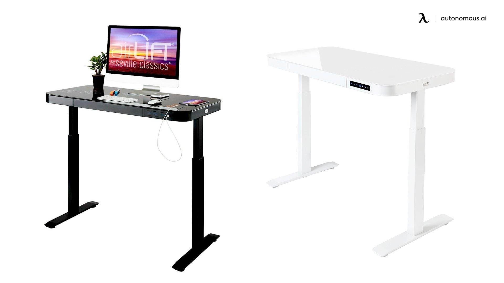 Seville Classics Glass Electric Standing Desk