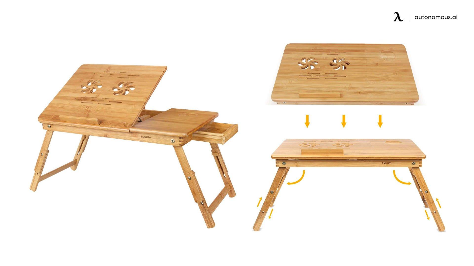 Bamboo Laptop Desk by HOMFA