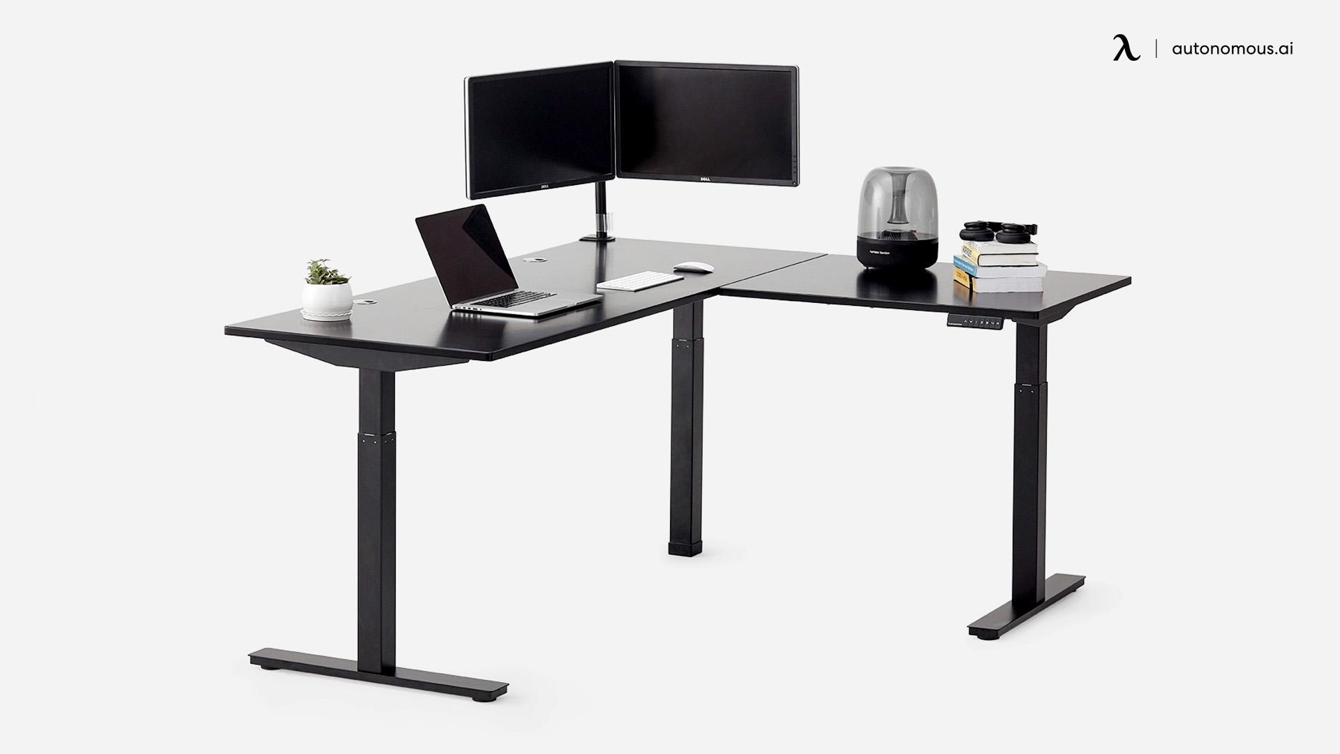 L-Shaped Smart Desk by Autonomous